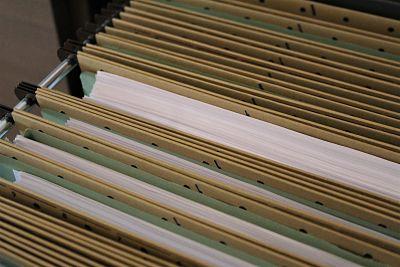filing cabinet, tax files