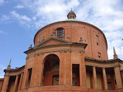 Building facade in Bologna, Italy