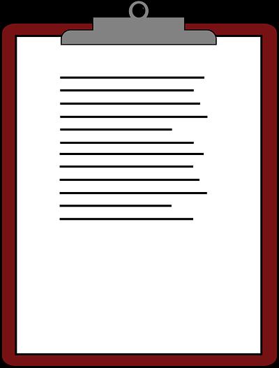 clipboard report